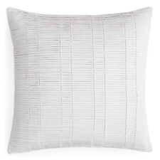 """NEW Oake Bedding Treviso Pleated 18"""" Square Decorative Pillow LIght Grey G2082"""