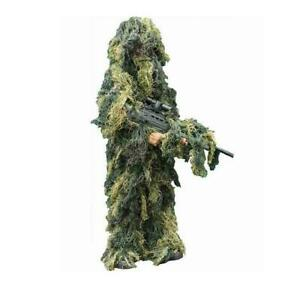Kombat Kids Ghillie Woodland Camo Suit Army Sniper Style Fancy Dress Airsoft