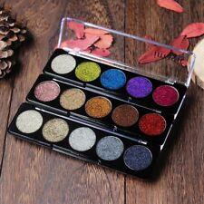 Shimmer Glitter Eye Shadow Powder Palette Metallic Eyeshadow Cosmetic Makeup·~-