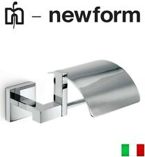 Newform Moony-Tech 3432 wall mounted toilet paper holder w/cover NIB