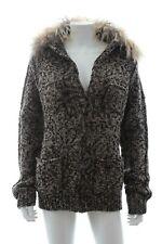 Lanvin 'Les 10 Ans' Lamb Collar Wool-Cashmere Cardigan / Black, Grey Marl