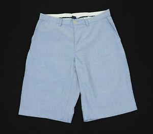 Polo Ralph Lauren Blue Oxford Cotton Woven Chino Shorts Mens 30