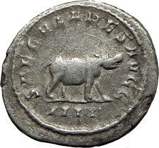 OTACILIA SEVERA 248AD 1000 Years of Rome HIPPOPOTAMUS Silver Roman Coin i65423