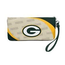 Green Bay Packers Ladies Women's Curved Zipped Wallet Organizer Shell NWT