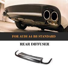 Rear Lip Diffuser Silver Strip Spoiler for Audi A4 B8 Non-Sline Bumper 09-12