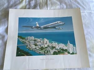NATIONAL AIRLINES DC8 PRINT 16 X 20