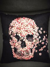 Flower Skull Pillow Cover Throw Pillow Decorative Gothic-Free Shipping!