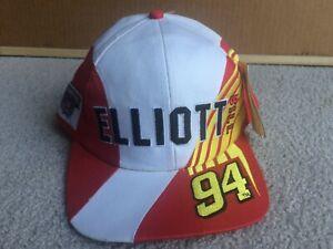 NWT Vintage 90s Bill Elliot Racing Team Snapback Hat NASCAR Mens Unisex