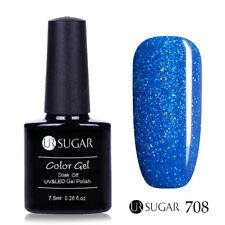 7.5ml UR SUGAR Glitter UV Gel Nail Polish Holographic Laser Shine Art Varnish
