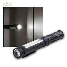 LED Taschenlampe mit HighPower und COB, Magnethalter Arbeitsleuchte Arbeitslampe