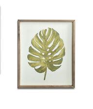 Botanica Green Palm Leaf Framed Canvas Art Print 48cm X 39.5cm