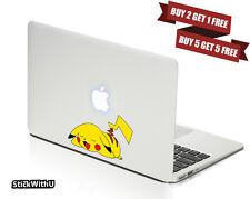 Macbook Air Pro Skin Sticker Decal Pokemon Go Game Pikachu Cute Sleep CMAC053