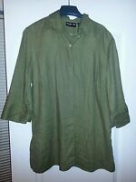 Women's Style & Co Sz 12 Green 3/4 Sleeve Blouse
