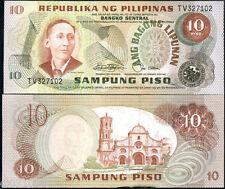 Philippines Billet 10 Piso (1974-1985) P161b BLACK SERIAL N° NEUF UNC