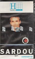 MICHEL SARDOU CONCERT 87 VHS VIDEO neuf !!!