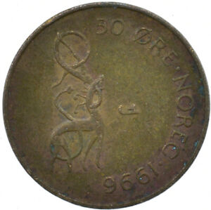 COIN / NORWAY / 50 ORE 1996  #WT26475