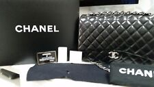 Beautiful Black Chanel Maxi Classic Double Flap Lambskin SHW- Stunning