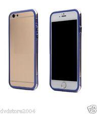 Custodia BUMPER BLU BORDO TRASPARENTE Per Apple iPhone 6 Plus 5.5 Gel Silicone