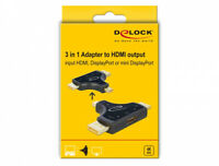 64059 Delock 3 in 1 Monitor Adapter with HDMI / DisplayPort mini to out 4K 6 ~D~