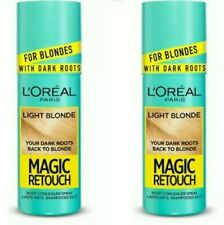 2x L'Oreal Magic Retouch LIGHT BLONDE Instant Dark Root Touch Up Spray 75ml ⚡UK