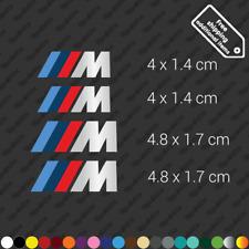 x4 BMW M caliper restoration sticker decal kit high temp - Silver