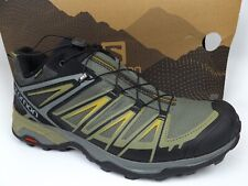 Men's Salomon X Ultra 3 GORE-TEX Hiking Shoes SZ 12.0 M Castor Gray/Beluga 17392