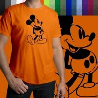 Retro Classic Vintage Mickey Mouse Walt Disney Mens Crew Neck Tee Unisex T-Shirt