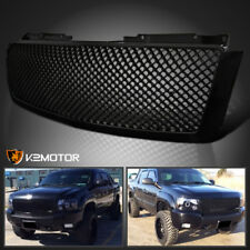 2007-2014 Chevy Avalanche Tahoe Suburban Glossy Black ABS Upper Mesh Hood Grille