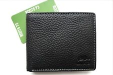 ROOTS CANADA Black Leather WALLET With Coin Pocket Cards Notes NEW