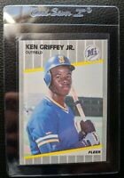 1989 FLEER #548 KEN GRIFFEY JR ROOKIE CARD RC SEATTLE MARINERS HOF MINT