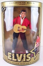 """Nos Hasbro Elvis Jailhouse Rock 45 Rpm 12"""" Doll with Guitar, Stand & Coa, Mint!"""