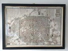 Framed Vintage Map Of Paris - 'Plan De Paris Et Ses Fortifications'