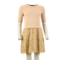 BOUTIQUE MOSCHINO Dress Gold Flower Detail Size 40 / UK 8 RRP £360 BW 201