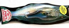 Vintage Poe's Glitter Blue Black Cedar Wood Lure #1195
