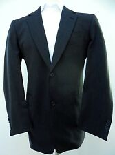 BURBERRY London BLAZER Men 42L Gray TWO Button LINED Vented USA Size CHARCOAL Sz
