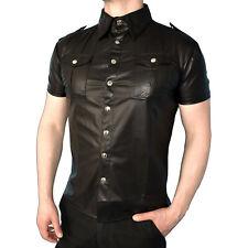 weiches Leder-Look HEMD für Herren* Gr. L (52) * kurzarm Oberteil* Vinyl Shirt