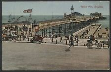 East Sussex. Brighton. Palace Pier. Vintage Car & Carriages. Union Flag Flying