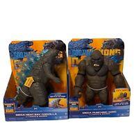 Kong Vs Godzilla! Mega Heat Ray Godzilla Mega Punching Kong Lights & sound 2021!
