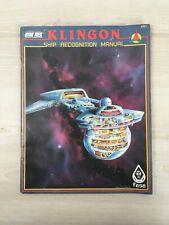 Star Trek Klingon Ship Recognition Manual