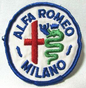 Vintage 1970 s Alfa Romeo Milano Patch Italian Automobile Maker Automobilia