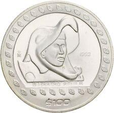 Künker: méxico, 100 pesos 1992 mo, guerreros águila, 1 onza de plata, conservación!