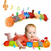 Baby Spielzeug mit Musik Wurm Raupe Plüschtier Motorik Mehrfarbig Geschenk DE
