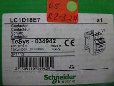 Schneider électrique LC1D18E7 TeSys 034942 Tension de la bobine 48V inutilisé