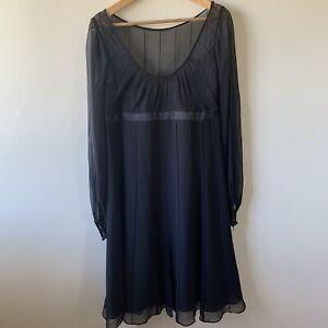 Anne Klein Black Silk Dress Size 10