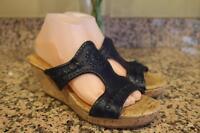 (z) JACK ROGERS Women's Navy Blue Navajo Wedge Sandals Size 9M (ta500