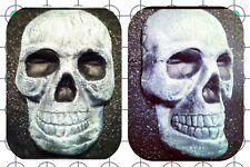 Skull Halloween Decoration Plastic Mold Plaster Concrete Cement