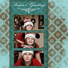 NEW Holiday Christmas Cards X'mas Photoshop Templates 8