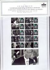 British QEII 1st,  decimal, multi-coloured CHARLE'S 60th BIRTHDAY  CS3 2008 MNH