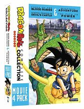 Dragon Ball: Complete Collection Movie 4 Pack DVD Box Set New Z GT R4 New