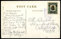 PANAMA TO USA Circulated Postcard 1910 VF